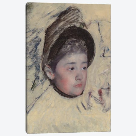Woman Wearing Bonnet, c.1889 Canvas Print #BMN8107} by Mary Stevenson Cassatt Canvas Artwork