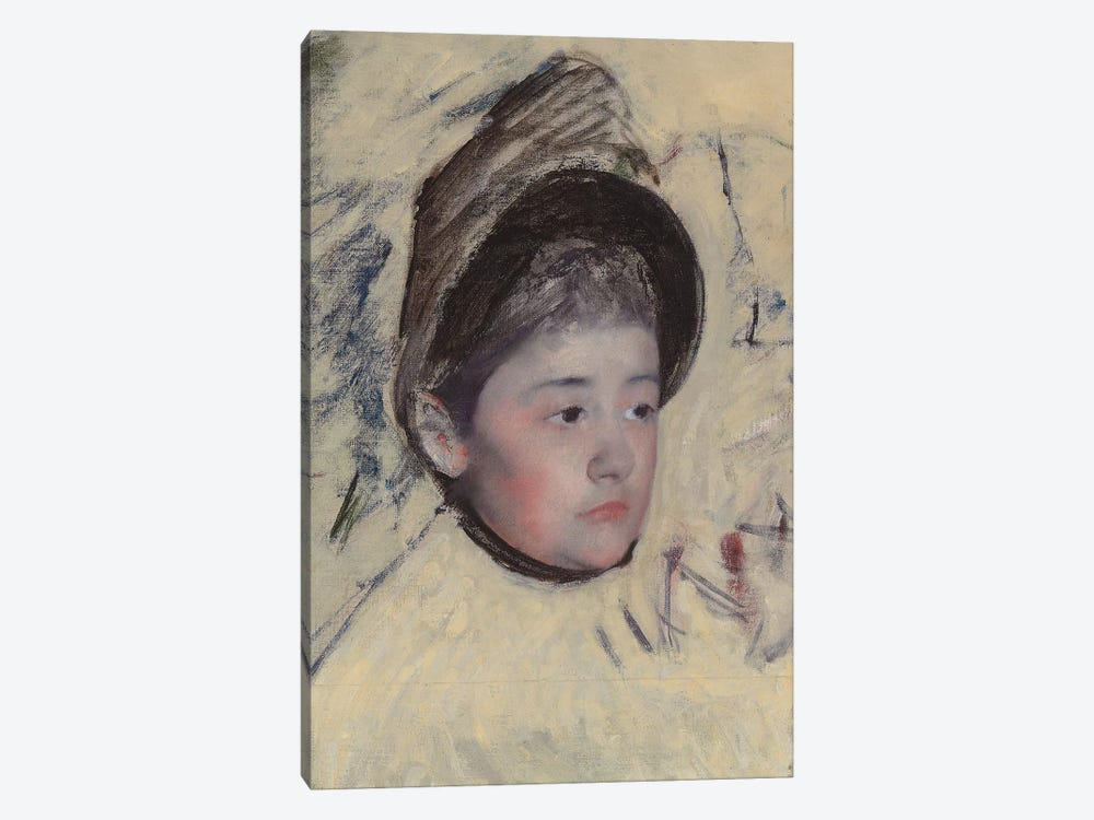 Woman Wearing Bonnet, c.1889 by Mary Stevenson Cassatt 1-piece Canvas Artwork