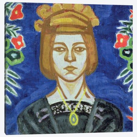 Self Portrait, 1912-15 Canvas Print #BMN8112} by Olga Vladimirovna Rozanova Canvas Art