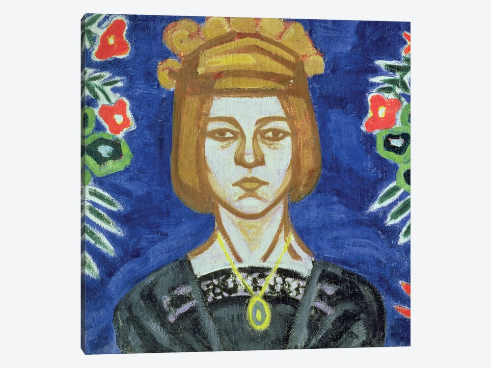 Self Portrait, 1912-15 by Olga Vladimirovna Rozanova 1-piece Canvas Artwork