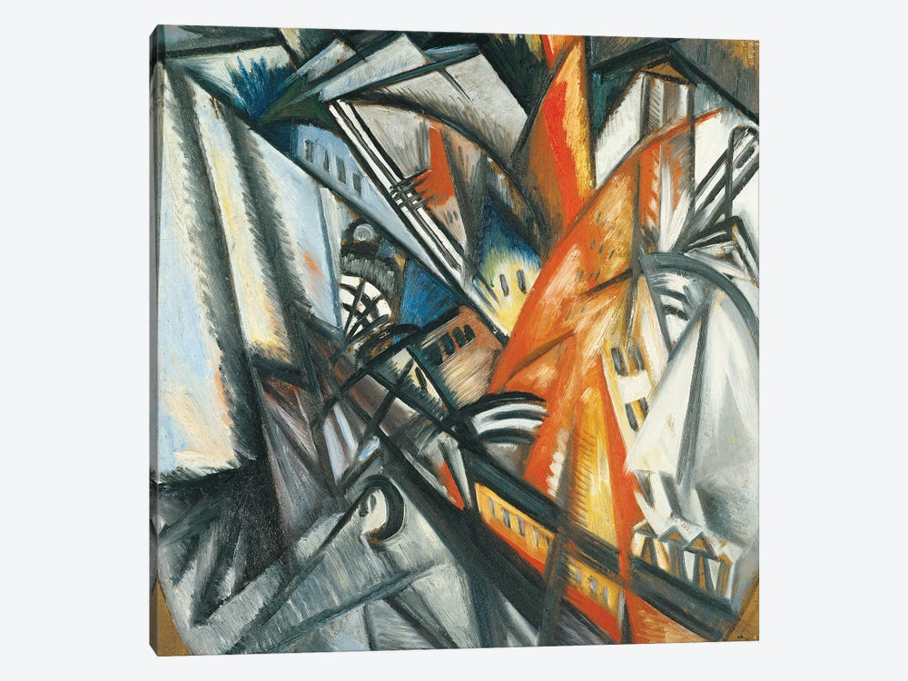 Urban Landscape, 1913-14 by Olga Vladimirovna Rozanova 1-piece Canvas Art
