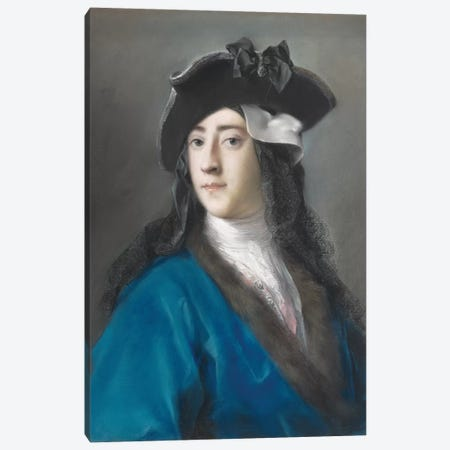 Gustavus Hamilton, Second Viscount Boyne, In Masquerade Costume, 1730-31 3-Piece Canvas #BMN8120} by Rosalba Giovanna Carriera Canvas Print