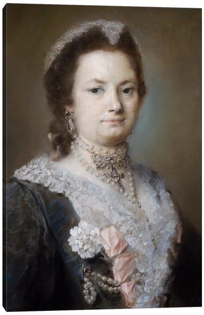 Portrait Of A Lady Canvas Art Print