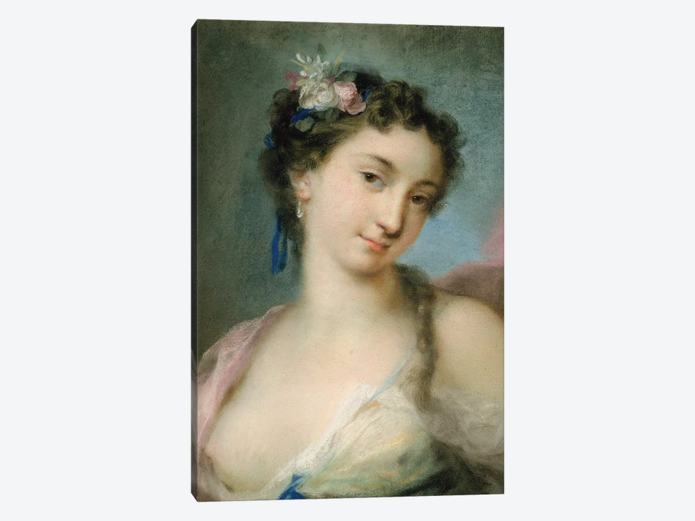 Portrait Of A Lady As Flora by Rosalba Giovanna Carriera 1-piece Canvas Art