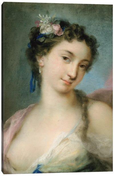 Portrait Of A Lady As Flora Canvas Art Print