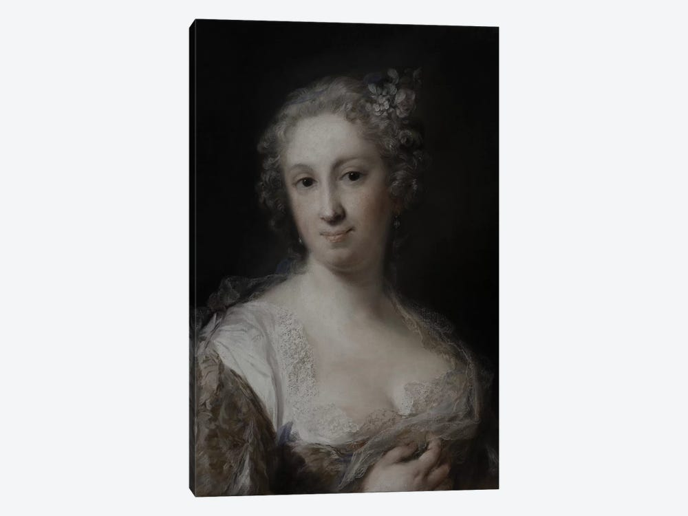 Portrait Of A Lady, c.1730-40 by Rosalba Giovanna Carriera 1-piece Canvas Art Print