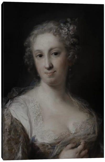 Portrait Of A Lady, c.1730-40 Canvas Art Print