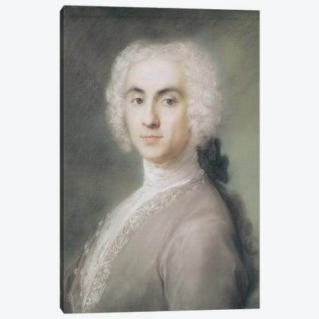 Portrait Of A Man Canvas Print #BMN8125} by Rosalba Giovanna Carriera Canvas Wall Art