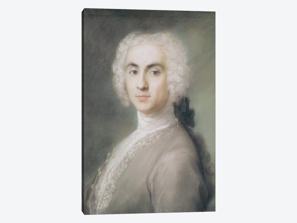 Portrait Of A Man by Rosalba Giovanna Carriera 1-piece Canvas Artwork