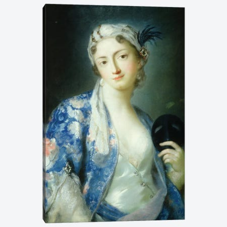 Portrait Of A Woman Canvas Print #BMN8126} by Rosalba Giovanna Carriera Canvas Art