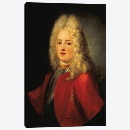 Portrait Of Augustus III Of Poland, As Prince Canvas Print #BMN8128} by Rosalba Giovanna Carriera Art Print