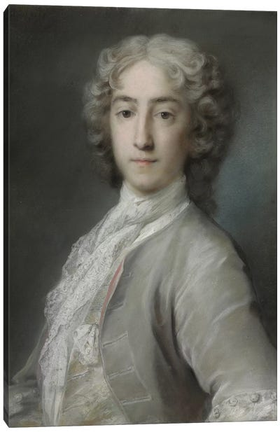 Portrait Of Lord Sidney Beauclerk In A Grey Velvet Coat And White Stock Canvas Art Print