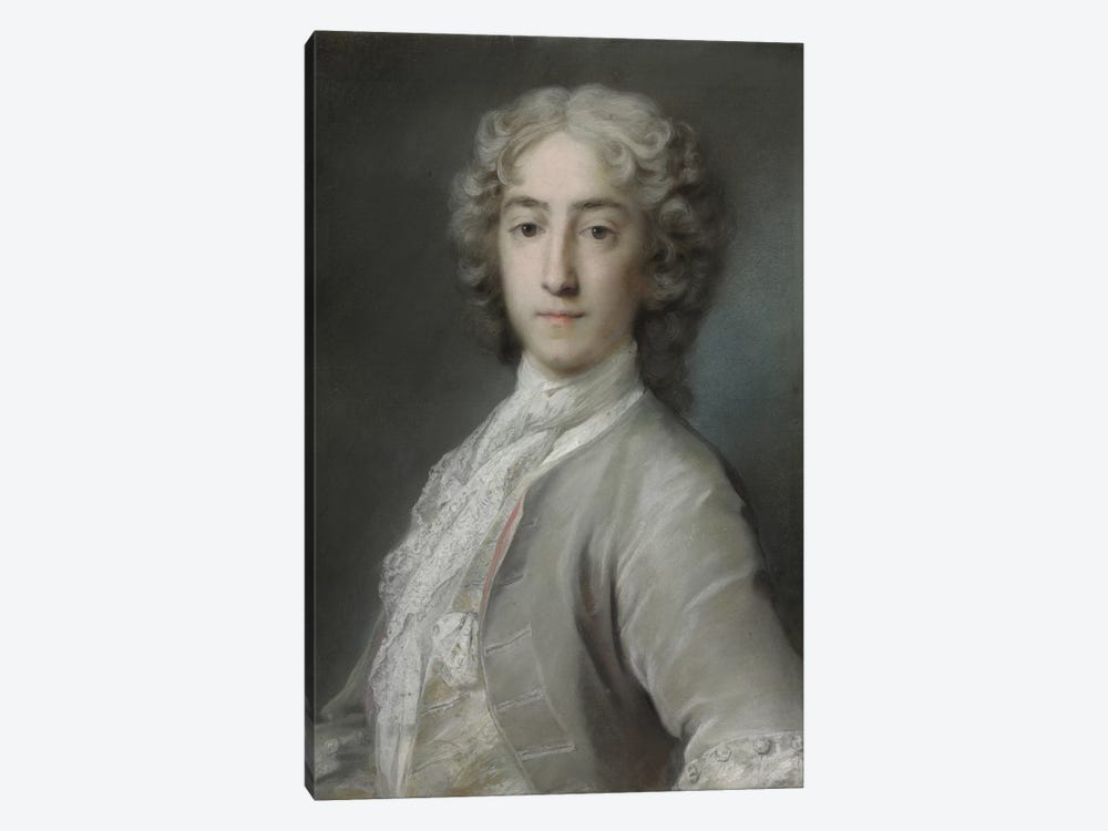 Portrait Of Lord Sidney Beauclerk In A Grey Velvet Coat And White Stock by Rosalba Giovanna Carriera 1-piece Canvas Wall Art