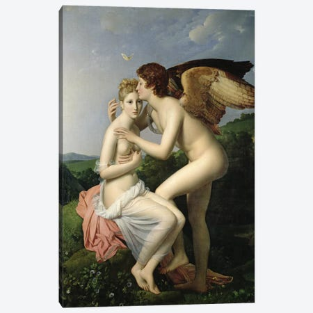 Psyche Receiving the First Kiss of Cupid, 1798  Canvas Print #BMN812} by Francois Pascal Simon Gerard Art Print