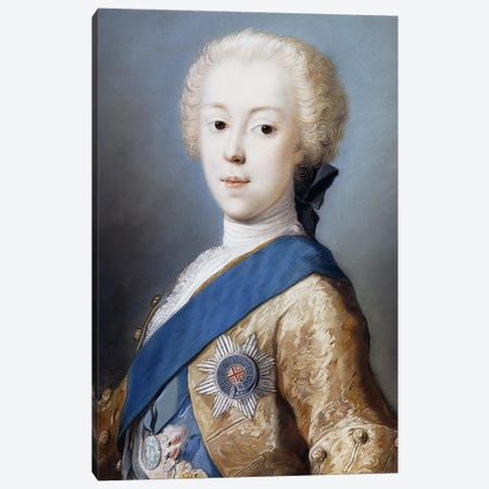 Portrait Of Prince Charles Edward Stuart, Bust-Length, In Profile To The Left, Canvas Print #BMN8130} by Rosalba Giovanna Carriera Canvas Art