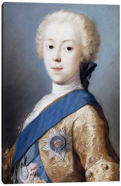 Portrait Of Prince Charles Edward Stuart, Bust-Length, In Profile To The Left, Canvas Art Print