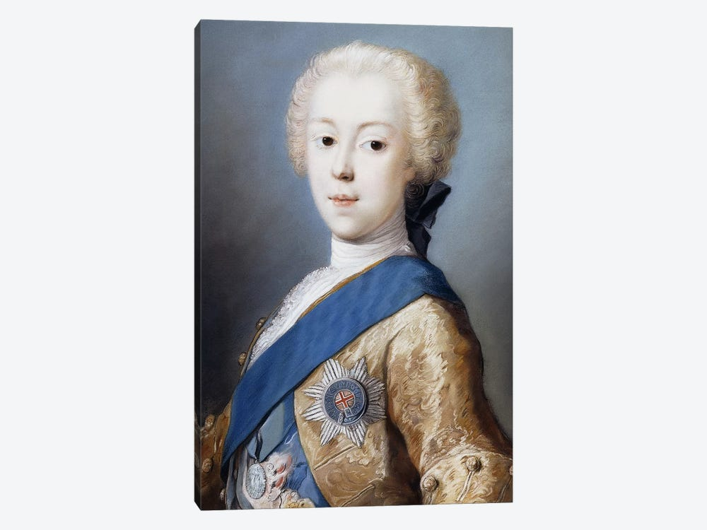 Portrait Of Prince Charles Edward Stuart, Bust-Length, In Profile To The Left, by Rosalba Giovanna Carriera 1-piece Canvas Wall Art