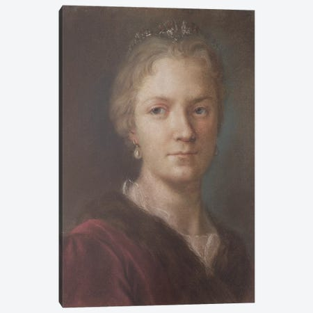 Self-Portrait I Canvas Print #BMN8132} by Rosalba Giovanna Carriera Canvas Artwork