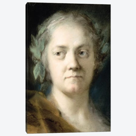 Self-Portrait II Canvas Print #BMN8133} by Rosalba Giovanna Carriera Canvas Artwork