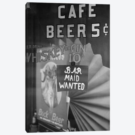 Bar Maid Wanted Canvas Print #BMN8135} by American Photographer Art Print
