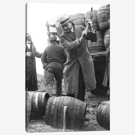 Destroying Barrels Of Beer Canvas Print #BMN8136} by American Photographer Canvas Art Print
