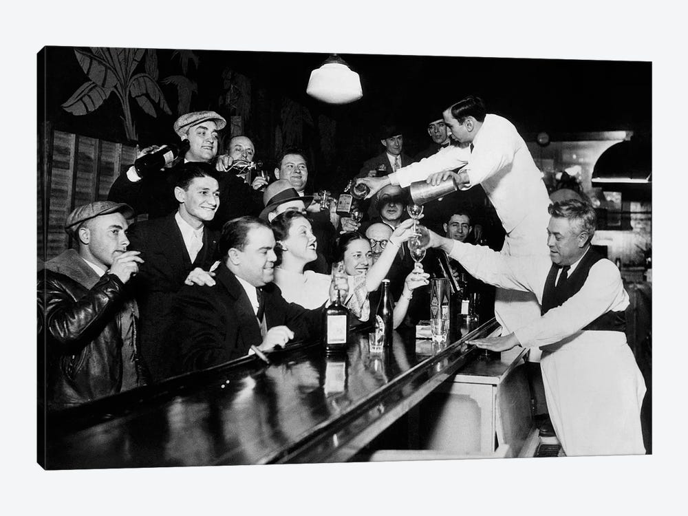 End Of The Prohibition Party by American Photographer 1-piece Canvas Print