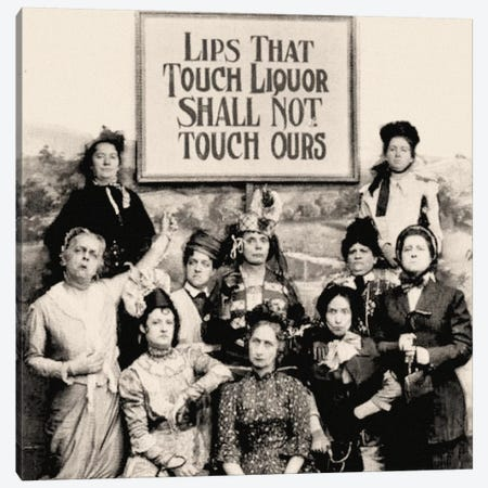 Members Of The Anti Saloon League Holding A Sign  Canvas Print #BMN8138} by American Photographer Canvas Artwork