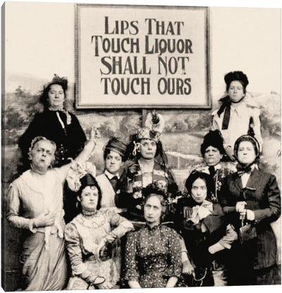 Members Of The Anti Saloon League Holding A Sign  Canvas Art Print