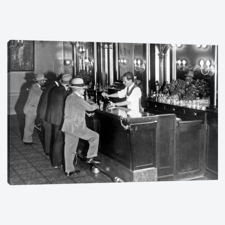 Patrons At A Speakeasy In San Francisco  Canvas Print #BMN8139} by American Photographer Canvas Artwork