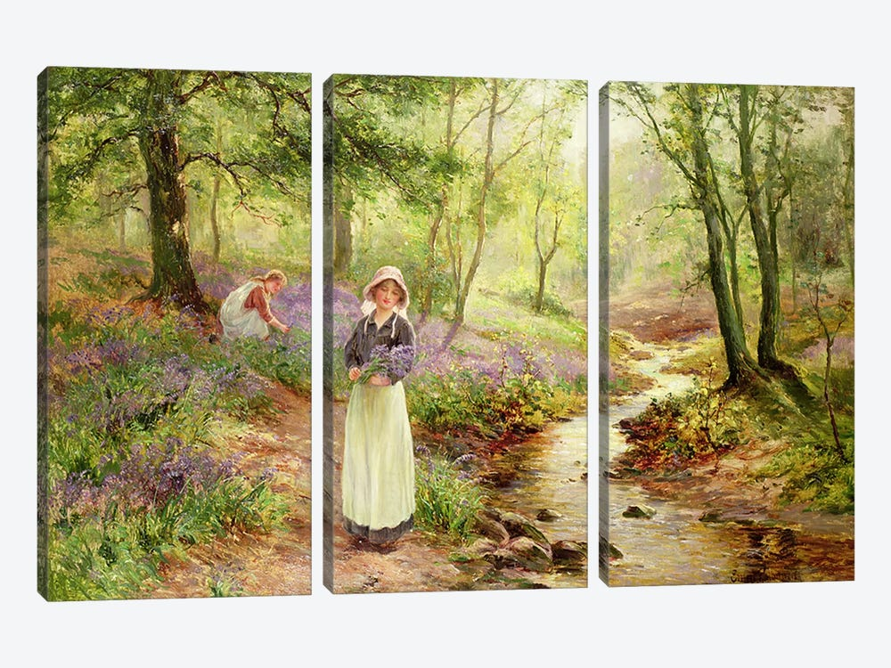The Bluebell Glade by Ernest Walbourn 3-piece Canvas Artwork