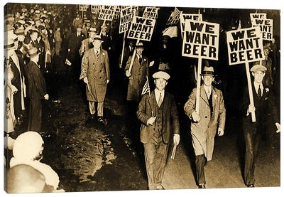 Protest Against Prohibition, New Jersey. 1931 Canvas Art Print
