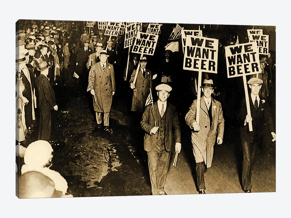 Protest Against Prohibition, New Jersey. 1931 by American Photographer 1-piece Canvas Art Print