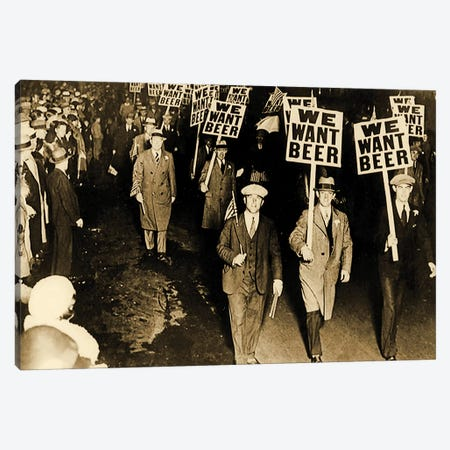 Protest Against Prohibition, New Jersey. 1931 Canvas Print #BMN8140} by American Photographer Canvas Print