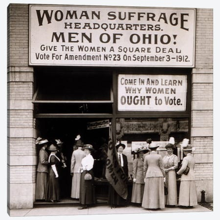 The Woman's Suffrage Headquarters Of Ohio, 1912 Canvas Print #BMN8141} by American Photographer Canvas Print