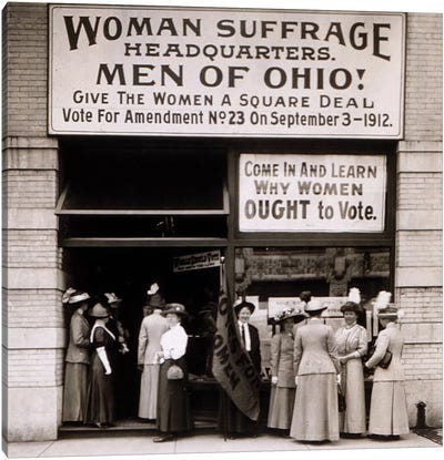 The Woman's Suffrage Headquarters Of Ohio, 1912 Canvas Art Print