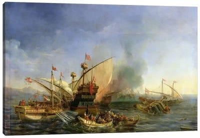 Naval Battle of Episkopi in 1323, 1841 Canvas Art Print