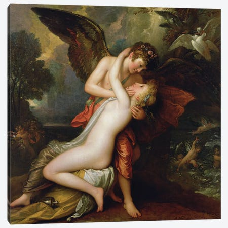 Cupid and Psyche, 1808 Canvas Print #BMN8144} by Benjamin West Canvas Wall Art