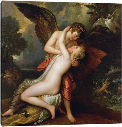 Cupid and Psyche, 1808 Canvas Art Print