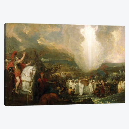 Joshua passing the River Jordan with the Ark of the Covenant, 1800 Canvas Print #BMN8146} by Benjamin West Canvas Wall Art