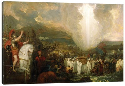 Joshua passing the River Jordan with the Ark of the Covenant, 1800 Canvas Art Print