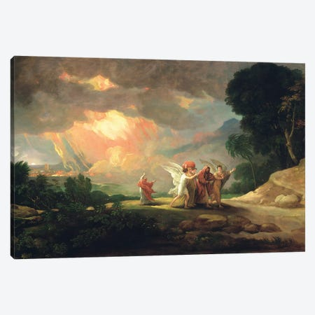Lot Fleeing from Sodom, 1810 Canvas Print #BMN8147} by Benjamin West Canvas Artwork