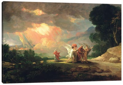 Lot Fleeing from Sodom, 1810 Canvas Art Print