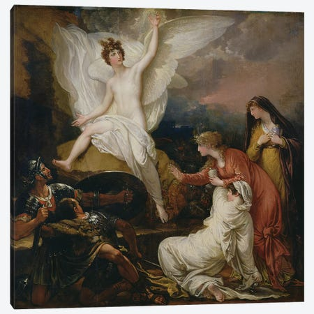 The Angel of the Lord Announcing the Resurrection, 1805 Canvas Print #BMN8150} by Benjamin West Canvas Artwork