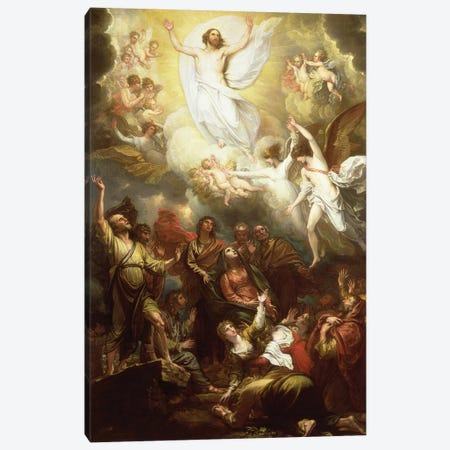 The Ascension Canvas Print #BMN8151} by Benjamin West Canvas Wall Art