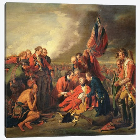 The Death of General Wolfe (1727-59), c.1771 Canvas Print #BMN8152} by Benjamin West Canvas Wall Art