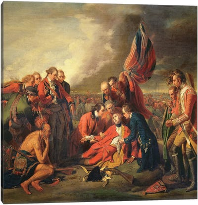 The Death of General Wolfe (1727-59), c.1771 Canvas Art Print