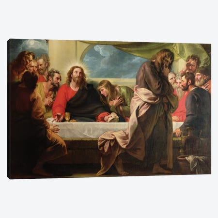 The Last Supper, 1786 Canvas Print #BMN8153} by Benjamin West Canvas Artwork