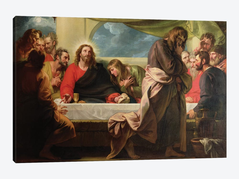 The Last Supper, 1786 by Benjamin West 1-piece Canvas Art Print