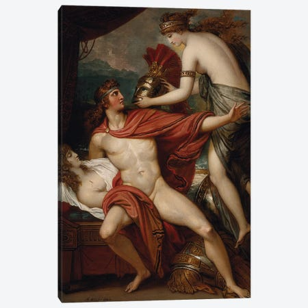 Thetis Bringing the Armor to Achilles, 1804 Canvas Print #BMN8155} by Benjamin West Art Print
