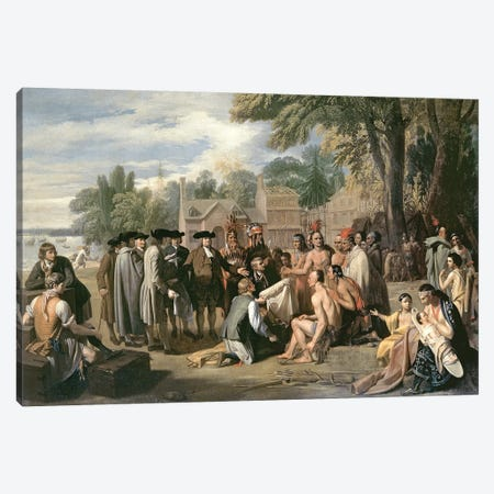 William Penn's Treaty with the Indians in November 1683, 1771-72 Canvas Print #BMN8156} by Benjamin West Canvas Print